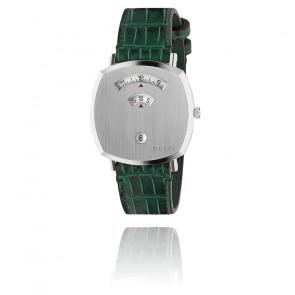 Montre Grip Acier lisse Alligator Vert YA157414
