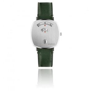 Montre Grip GG Acier cuir vert  YA157406