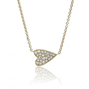 Collier coeur en acier inoxydable doré JF03261710