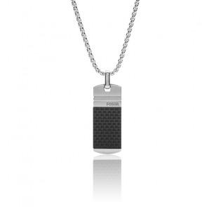 Collier acier argenté moulu, JF03316040