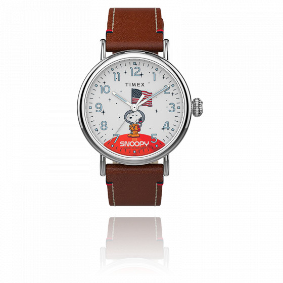Montre Space Snoopy  40mm Leather Strap TW2T92300
