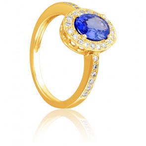 Bague Valhalla, Saphir et Diamants or jaune 18 carats