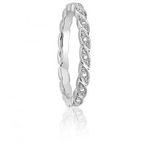 Alliance Epi Forever en or blanc 18K & diamants 0,09 ct
