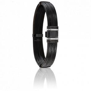 Bracelet 698N Poils Éléphant, Acier & Or Blanc 18K