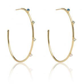 Boucles d'oreilles en or indigo