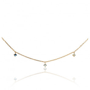 Collier navy gold