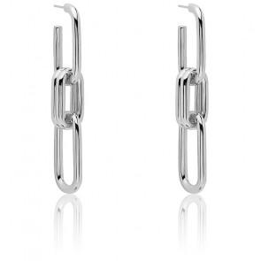 Boucles d'oreilles en argent muze - AR02-074-U