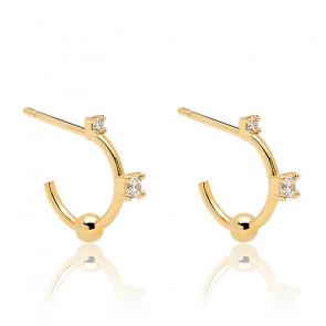 Boucles d'oreilles kaya dorées AR01-084-U