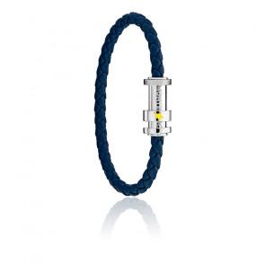 Bracelet tressé bleu Le Petit Prince, cuir & acier