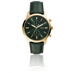 Townsman Chronographe en cuir vert FS5599