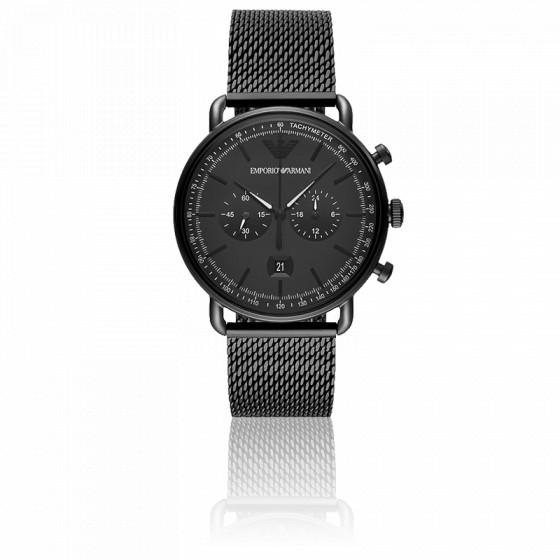 Montre Chronographe Acier Noir AR11264