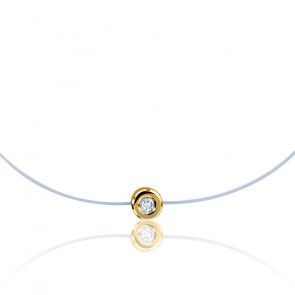 Bracelet nylon diamant et or jaune GSI