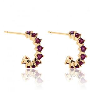 Boucles d'oreilles violet bird - AR01-100-U