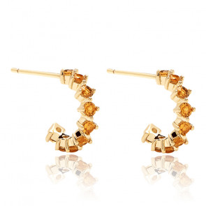 Boucles d'oreilles yellow bird