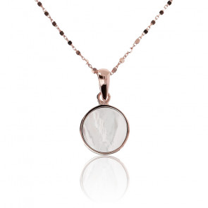 Collier cercle mini nacre blanche