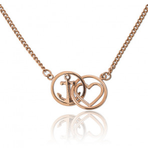 Collier love and hope rosegold