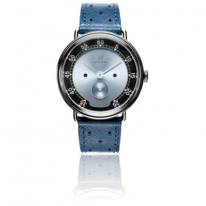 Montre Intereuropa Manual Wind Silver Blue Dial