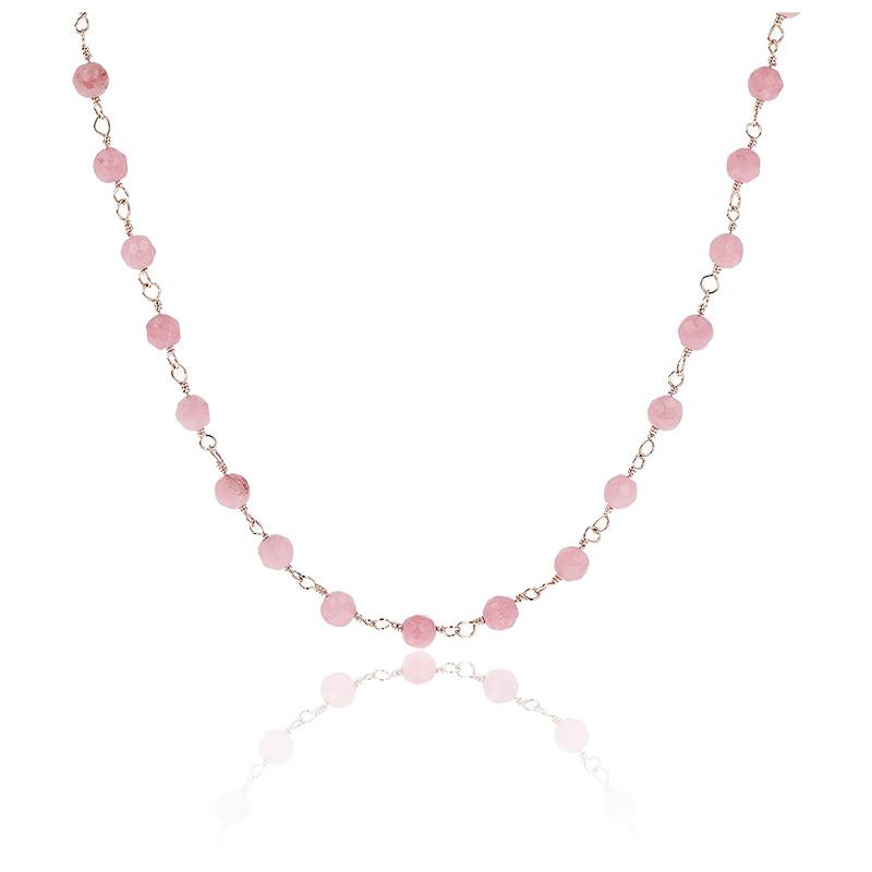 Collier amorette quartz rose