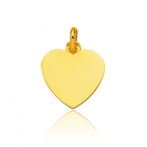 Pendentif cœur or jaune 9K ou 18K