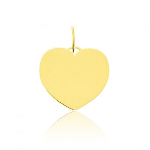 Pendentif cœur poli or jaune 9K ou 18K