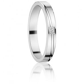 Alliance Tana en Or Blanc 18K & Diamant