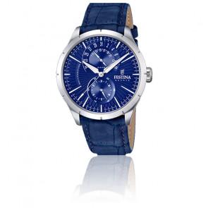 Montre Retro Cuir Bleu F16573/7