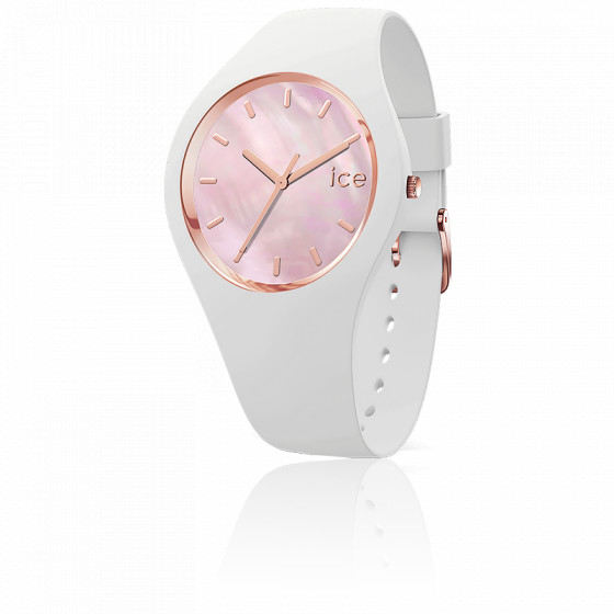 Montre ICE Pearl White Pink Small 016939