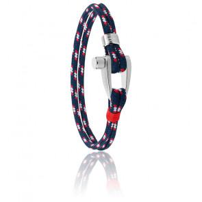 Bracelet acier & nylon, JM218AMG01