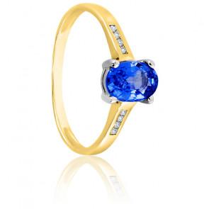 Bague tanzanite 2 ors 18K & diamants