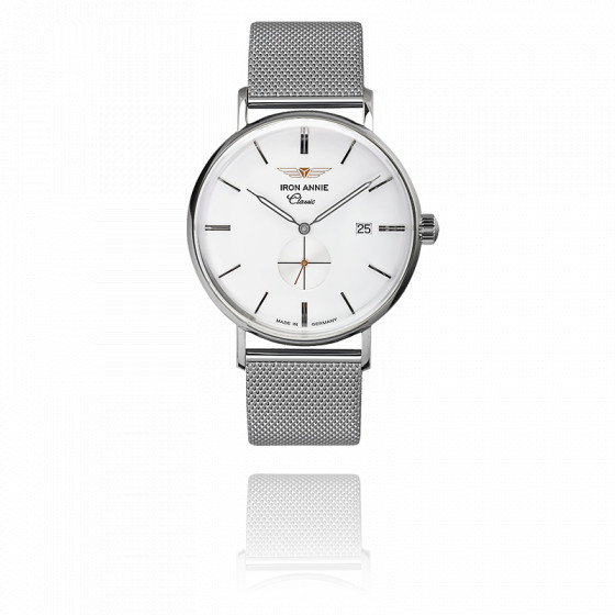 Montre Classic Small Second Blanc 5938M-1
