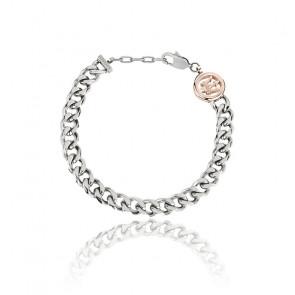 Bracelet acier & PVD rose, JM418ANI02