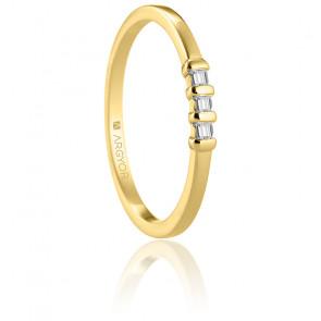 Alliance Langa or jaune 18K & diamants