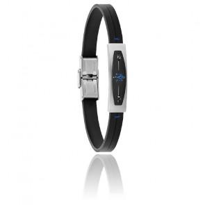 Bracelet cuir, acier & PVD, JM419ARY04