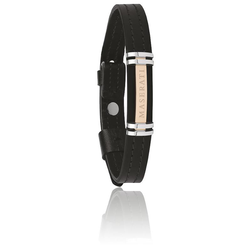 Bracelet cuir & acier, JM418ANL09