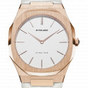 Montre Ultra Thin Rose Gold Case Leather Strap UTLL02