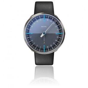 Montre UNO24 Plus Black Edition Blue Quartz Leather
