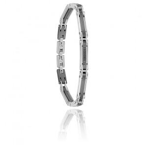 Bracelet acier & céramique, JM219AQH19