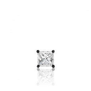 1 Puce d'Oreille Diamant Princesse & Or Noir 18K