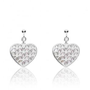 Boucles d'oreilles heart cutout argent, JFS00489040
