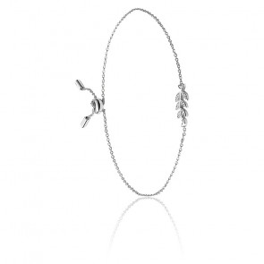 Bracelet Olive argent & zirconiums, JFS00484040