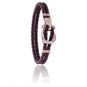 Bracelet Phinity cuir violet