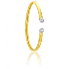 Bracelet flexible 2 ors 9K & diamants
