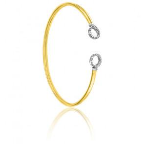 Bracelet Flixo rondelles 2 ors 9K & diamants