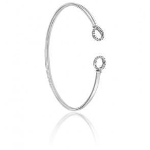 Bracelet flixo rondelles or blanc 9K & diamants