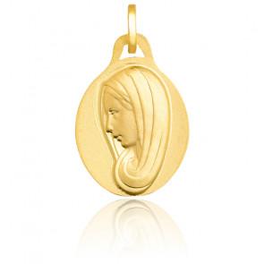 Médaille Petite Vierge, ovale, Or Jaune 18K