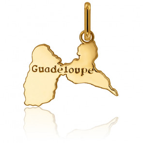 Pendentif Guadeloupe 18 x 18 mm Or Jaune 18 carats