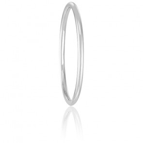 Alliance Jonc Rond 1,50 mm Or Blanc 18K
