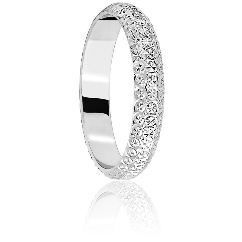 Alliance Diamantée 3,50 mm Or Blanc 18K