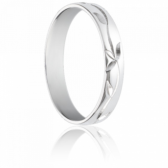Alliance Nicolle Or Blanc 9 Carats