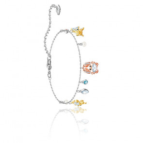 Bracelet Océan multicolore & métal plaqué